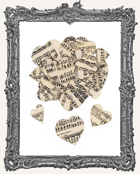 41 Vintage Music Sheet Valentine Heart Paper Cuts