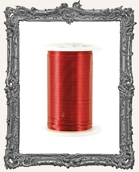 Red 24 Gauge Wire - 25 Yards
