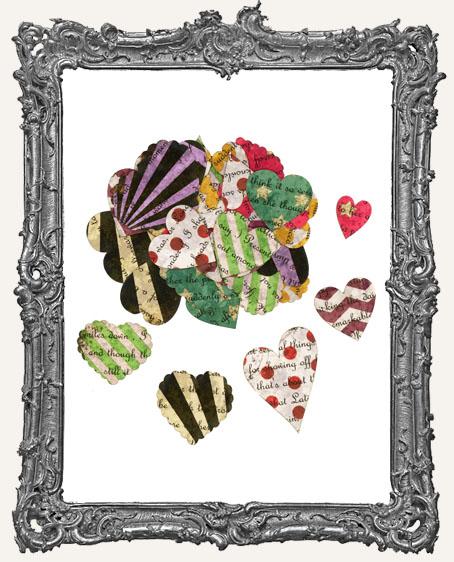 42 Retro Grunge Valentine Heart Paper Cuts
