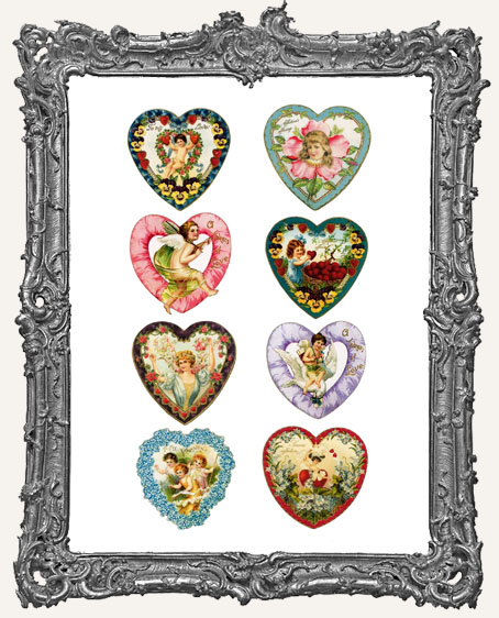 18 Vintage Valentine Heart Paper Cuts