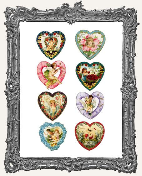 18 Vintage Valentine Heart Paper Cuts