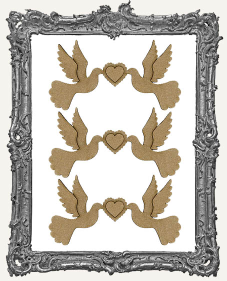 Chipboard Love Birds - Medium or Large