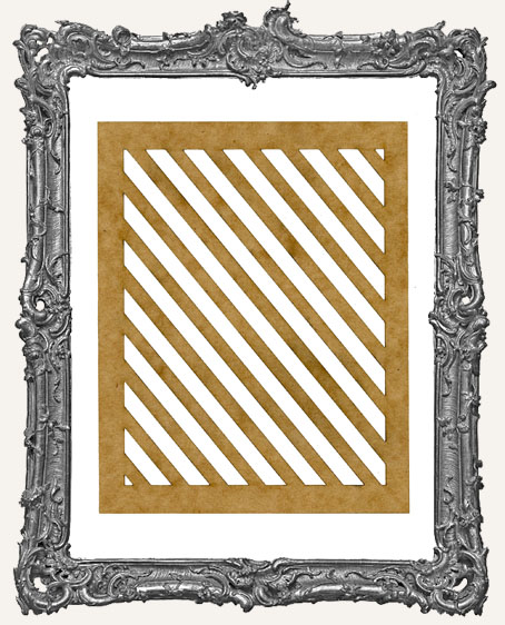 SMALL Diagonal Stripes Stencil
