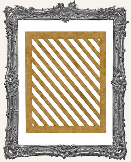 SMALL Diagonal Stripes Stencil