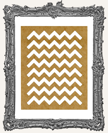 SMALL Chevron Stencil