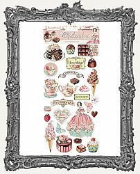 Stamperia Adhesive Chipboard - Sweety