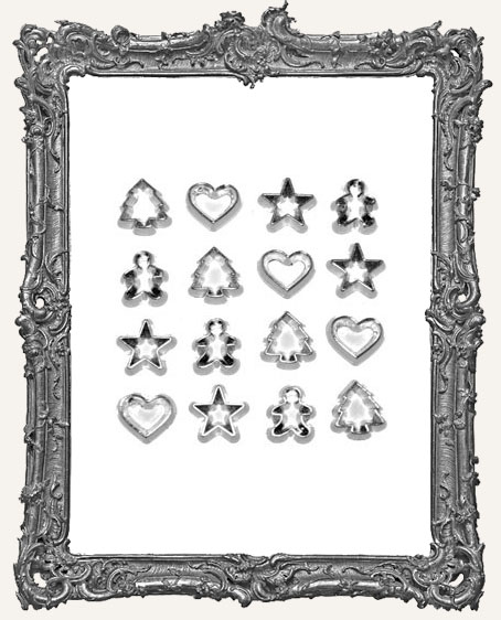 Mini Silver Cookie Cutter Embellishments
