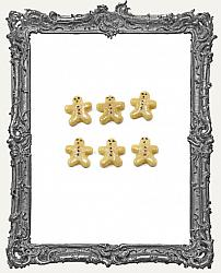 Miniature Christmas Gingerbread Man Sugar Cookie - 6 Pieces
