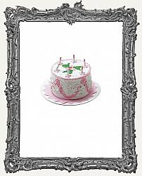 Miniature Pink Birthday Cake