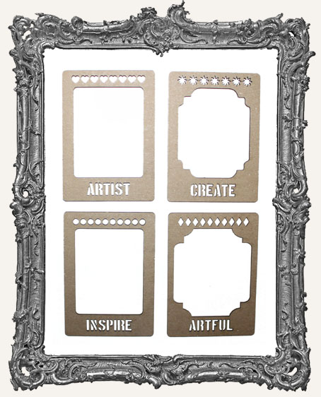 Layered Chipboard ATC Frame Set - The Artist