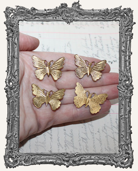 Fancy Brass Butterflies - Set of 2