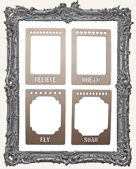 Layered Chipboard ATC Frame Set - Dream