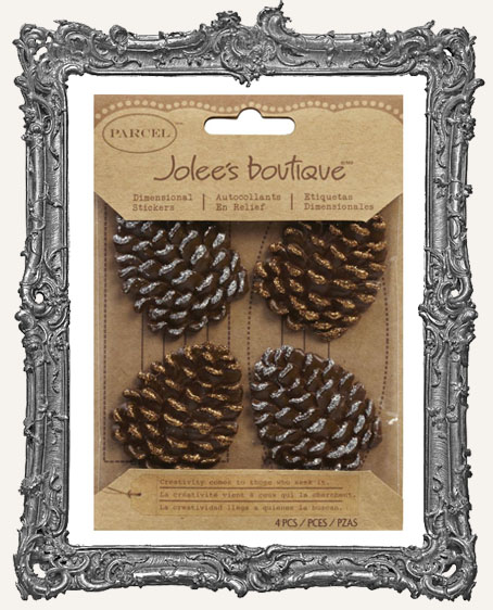 Jolee's Boutique Glittered Edge Pinecone Embellishments