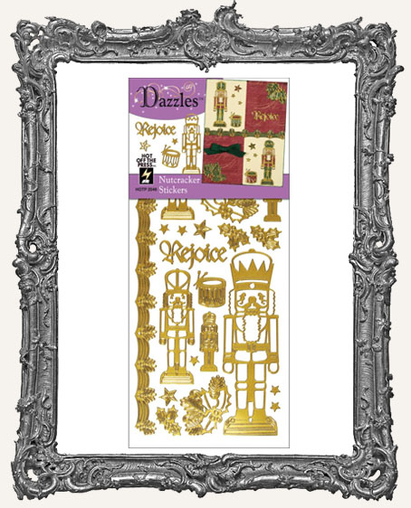 Dazzles Stickers - Gold Nutcrackers