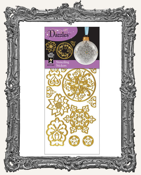 Dazzles Stickers - Gold Stenciling