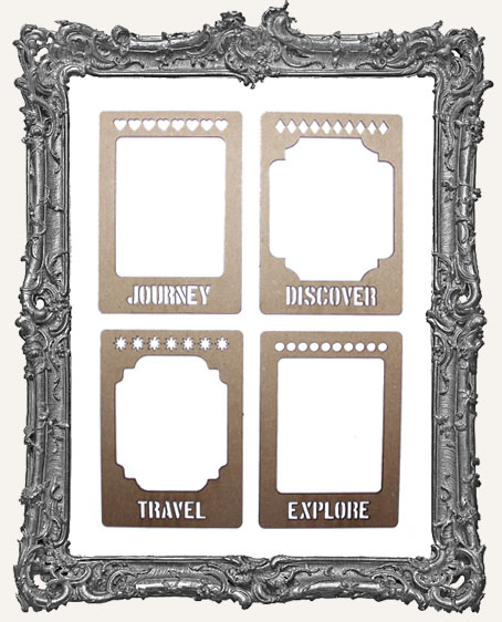 Layered Chipboard ATC Frame Set - Journey