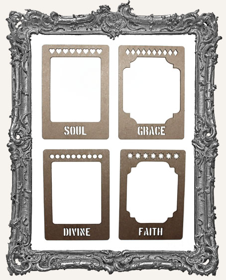 Layered Chipboard ATC Frame Set - Soul