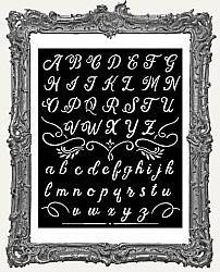 Stamperia Stencil - Calligraphy Alphabet