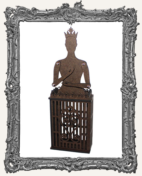 3-D Articulated Bird Cage Doll ATC Shrine Kit