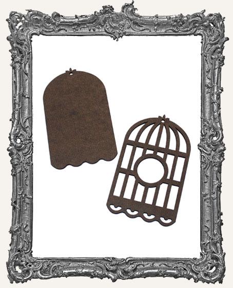 Layered Masonite Bird Cage Ornament