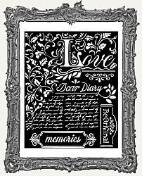 Stamperia Stencil - Calligraphy Dear Diary