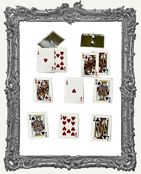 Playing Card Brads - 12 Piece