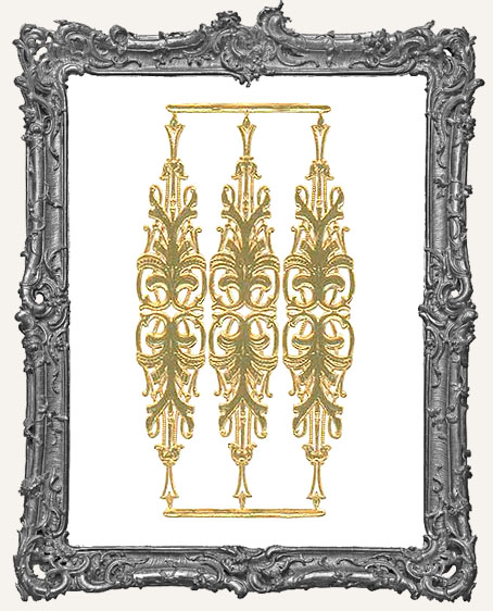 German Dresden GOLD Decorations - 3 Pieces