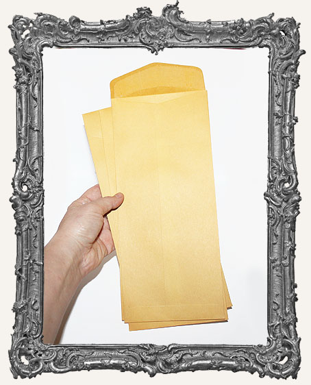 Long Yellow Kraft Envelopes - Set of 10