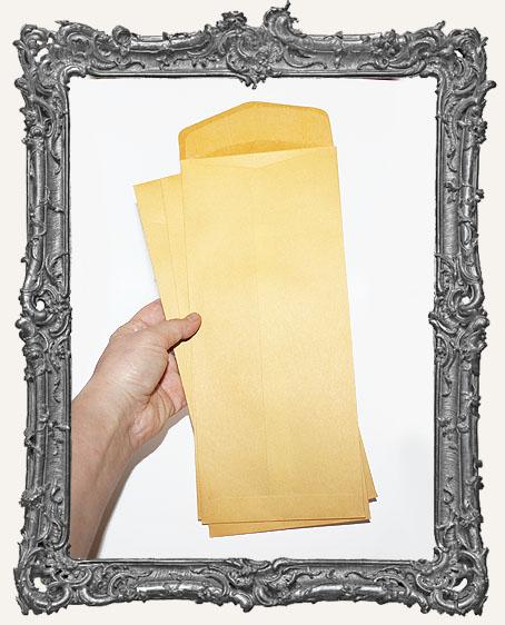 Long Yellow Kraft Envelopes - Set of 10