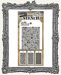 Tim Holtz Mini Layered Stencil Set - Bubbles Set 46