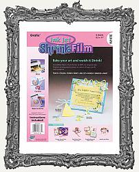 Grafix Ink Jet White Shrink Film 6 Sheet Package