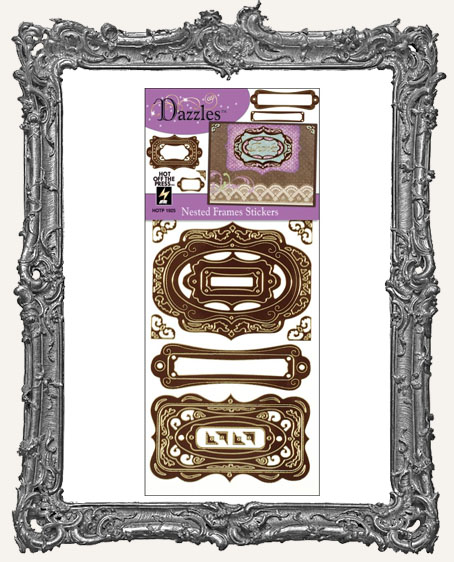 Dazzles Stickers - Brown Nested Frames