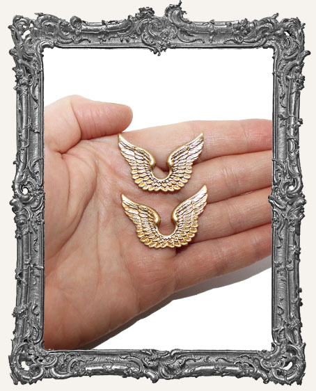 Brass Connected Angel Wings - Set of 2