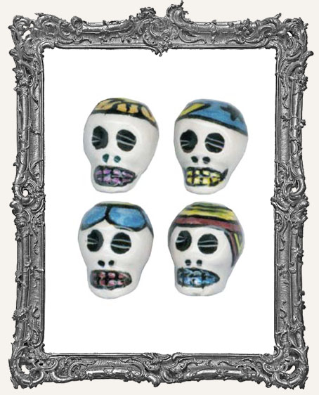 Small Day of the Dead Ceramic Skull Bead