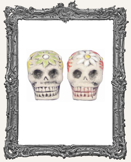 Medium Sugar Skull Bead
