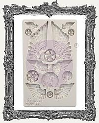 Finnabair Prima Art Decor Mould - Cogs and Wings