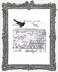Finnabair 2.5 x 2.5 Inch Clear Stamp - Old Receipt