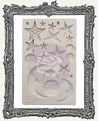 Finnabair Prima Art Decor Mould - Stars and Moons