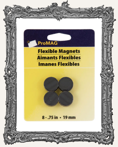 Round Magnets .75 Inch - 8 Pack