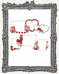 Simple Stories - Simple Vintage My Valentine Layered Frames Die-Cuts 6 Pieces