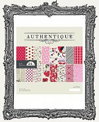 8X8 Authentique Double Sided Cardstock Valentine Paper Pad - Love Notes