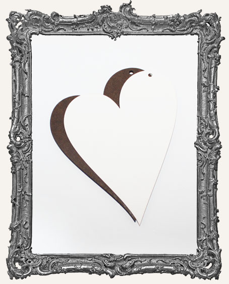Large Water Color Paper and Masonite Folk Heart Ornament