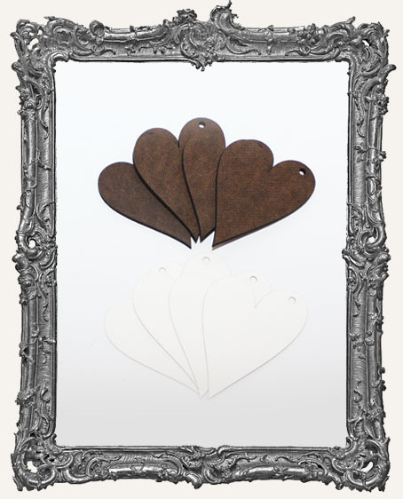 Medium Water Color Paper and Masonite Folk Hearts