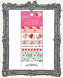Pebbles Loves Me Valentine Washi Tape 8 Pack