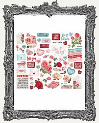 Simple Stories - Simple Vintage My Valentine Bits and Pieces Die-Cuts 60 Pieces