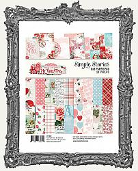 6x8 Simple Stories Double Sided Paper Pad - Simple Vintage My Valentine