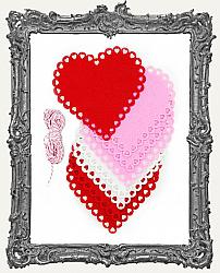 Limited Edition Felt Lace Heart Banner Kit