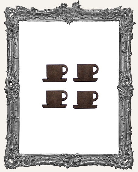 Coffee or Tea Cup Cut-Outs - Pack of 4