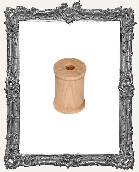 Large Unfinished Wood Spool - 2.125 Inch - 1 Piece