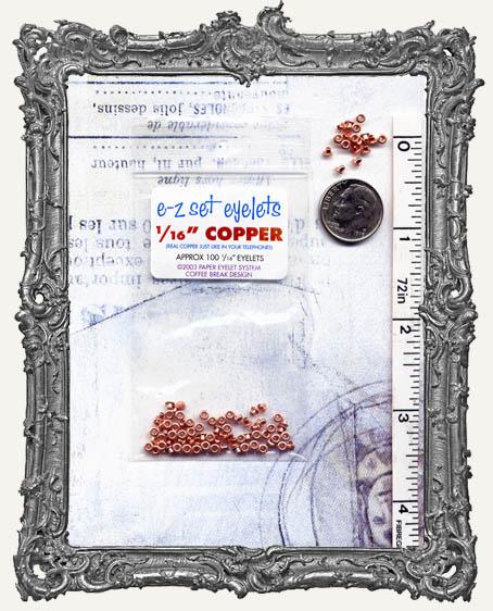"""E-Z Set Eyelets - 1/16"""" Copper SHORT"""